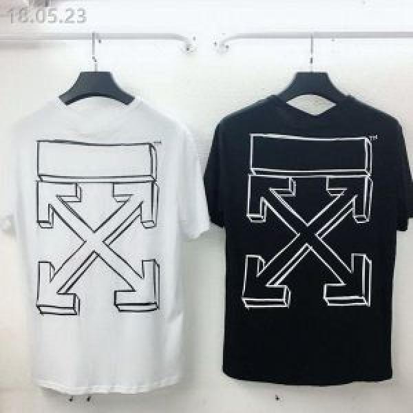 オフホワイト 2色可選大人気ブランド2018最高ランキング 半袖Tシャツ Off-White