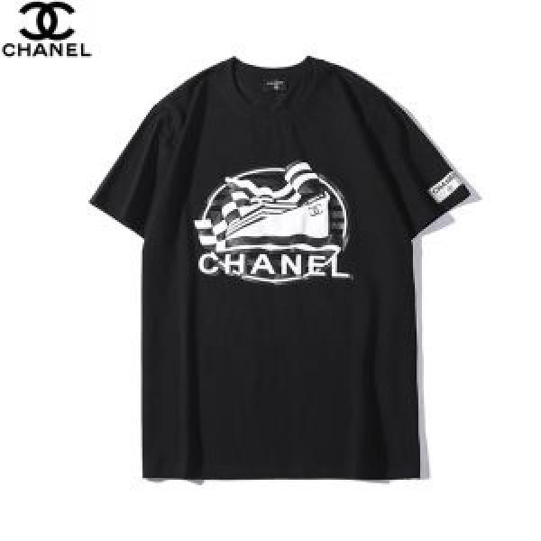 大人の華やかさを演出 大人っぽく見せ新作 CHANEL シャネル 半袖Tシャツ 3色可選