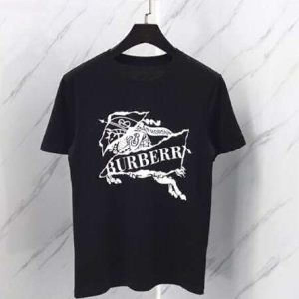 知的優秀アイテム バーバリー夏の王道 適度な上品さ BURBERRY 2色可選洗練されたスタイル Tシャツ/ティーシャツ