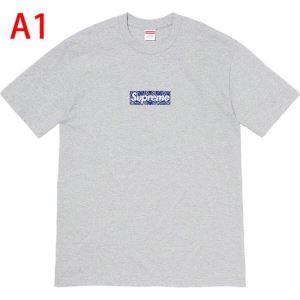 トレンド最先端のアイテム 多色可選 Tシャツ/半袖 Supreme 19FW Bandana Box Logo Tee 20SS☆送料込 .