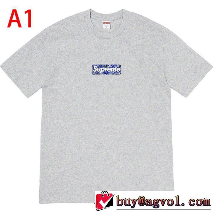 トレンド最先端のアイテム 多色可選  Tシャツ/半袖 Supreme 19FW Bandana Box Logo Tee 20SS☆送料込