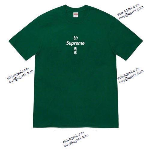 Tシャツ/半袖 シュプリーム偽物ブランド 4色可選 Supreme CROSS BOX LOGO SUPREME偽物ブランド