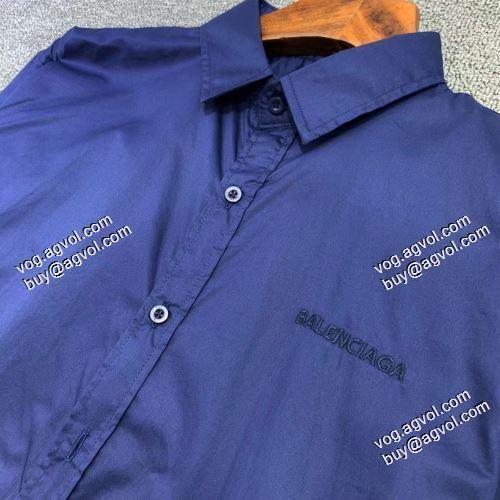 ブランド 偽物:首胸ロゴ  2021春夏 柔らかい手触り バレンシアガ BALENCIAGA 長袖シャツ 2色可選 バレンシアガブランド コピー