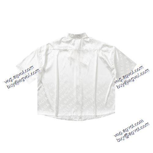 ブランド コピー s 級:BALENCIAGA ~希少 半袖シャツ 2色可選 2021春夏 バレンシアガコピーブランド 着回し度抜群