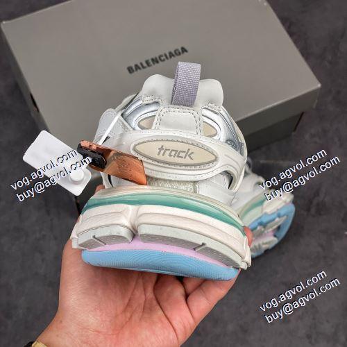 激安 通販 専門 店:2021春夏 高級感ある バレンシアガ Balenciaga Sneaker Tess s.Gomma MAILLE WHITE/ORANGE ランニングシューズ スニーカー バレンシアガコピーブランド 優しい履き心地