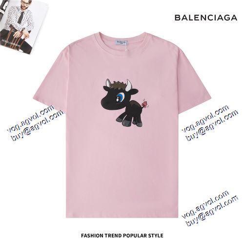 ブランド コピー 販売:売れ筋のいい 2021春夏 BALENCIAGA バレンシアガ 4色可選 BALENCIAGAスーパーコピー 激安 半袖Tシャツ ラックスした雰囲気