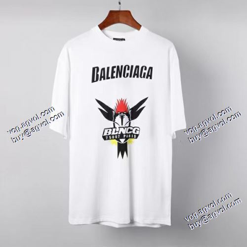 ブランド 品 コピー:2021春夏 件気雑誌掲載 バレンシアガ BALENCIAGA 半袖Tシャツ 柔らかい手触り 3色可選 バレンシアガスーパーコピー 激安