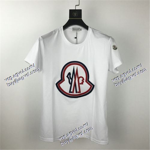 モンクレール MONCLER 半袖Tシャツ 売れ筋のいい 2色可選 MONCLERブランド 偽物 通販 2021春夏