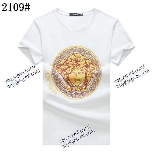 ヴェルサーチVERSACE 2021春夏 ◆モデル愛用◆ VERSACEブランドスーパーコピー 半袖Tシャツ 2色可選