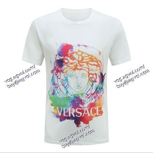 ヴェルサーチVERSACE 2021春夏 VERSACEコピー ブランド 贈り物にも◎ 2色可選 半袖Tシャツ