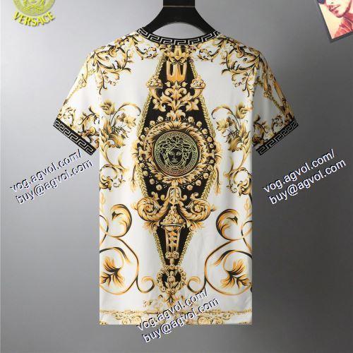 2021春夏 VERSACEスーパーコピー 激安 半袖Tシャツ ヴェルサーチVERSACE 2色可選 上質 大人気!
