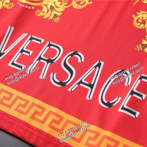 VERSACE偽物ブランド 耐久性に優れ 半袖Tシャツ 2色可選 ヴェルサーチVERSACE 2021春夏
