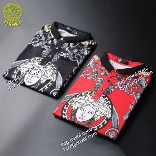 2色可選 半袖Tシャツ 重宝するアイテム ヴェルサーチVERSACE 2021春夏 VERSACEブランド コピー