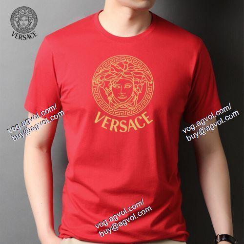 4色可選 2021春夏 半袖Tシャツ VERSACEスーパーコピー 激安 数に限りがある ヴェルサーチVERSACE