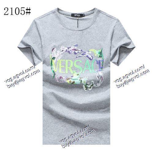 半袖Tシャツ VERSACE偽物ブランド 3色可選 ヴェルサーチVERSACE 2021春夏 ポップ