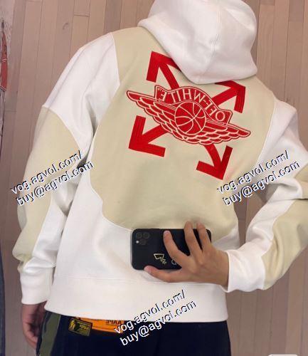 2021春夏   スタイリッシュな印象   長袖  OFF-WHITE オフホワイトコピー   オリジナル   OFF-WHITE オフホワイト偽物ブランド   パーカー
