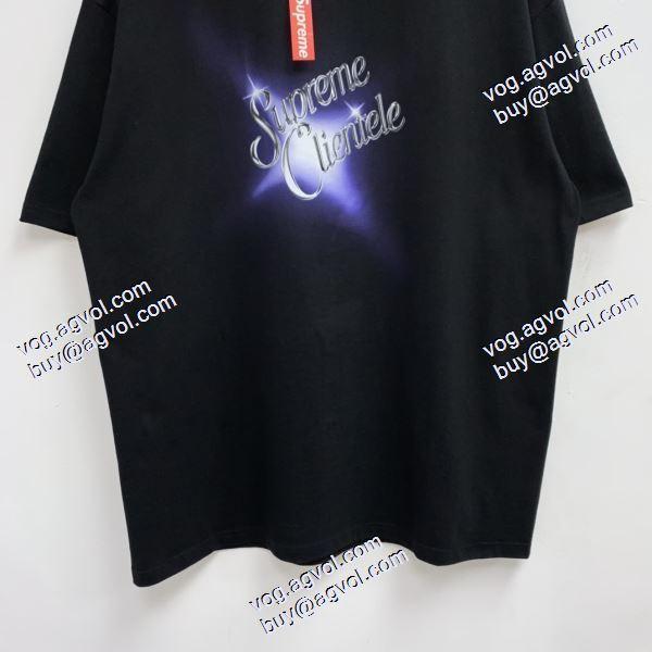 ブランド コピー 着払い:シュプリーム Supreme Clientele Tee キラキラ星LOGOプリント 高級感溢れるデザイン 2020秋冬 SUPREMEコピー ブランド 半袖Tシャツ 2色可選