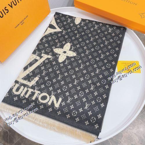 セール中 4色可選 マフラー ルイ ヴィトンコピー ブランド あったか発熱 高級感ある 2021秋冬 ルイ ヴィトン LOUIS VUITTON