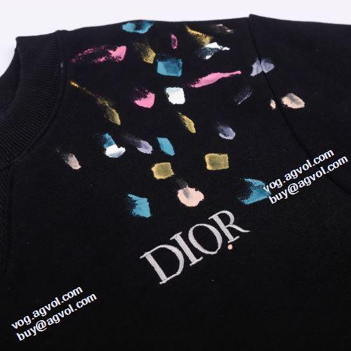 可愛く上品な雰囲気 ルームウェア 2021秋冬 ディオールブランド 偽物 通販 ディオール DIOR プルオーバーパーカー 3色可選