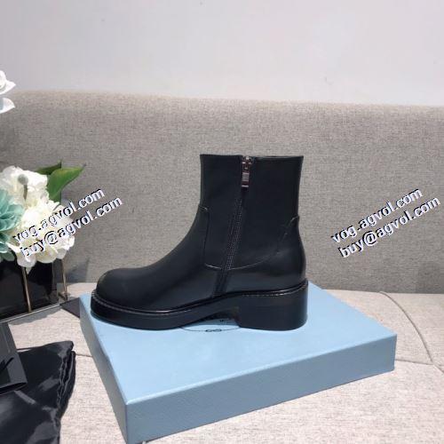 レザーシューズ靴 2021秋冬 プラダブランド 偽物 通販 汚れも目立ちにくい プラダ PRADA 安定感が抜群 足元を上品に