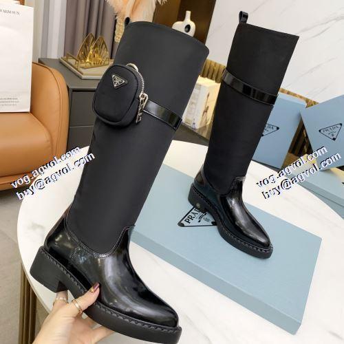 2021秋冬 上品な輝きを放つ形 プラダスーパーコピー 編上げ靴タイプ ポップ 脚長美脚効果がある プラダ PRADA 流行や季節に拘らないデザイン